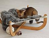 КІТ-ПЕС by smartwood Лежанка для кошки кота Лежак для кошки кота Спальное место, фото 2