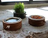 КІТ-ПЕС by smartwood Миска на подставке | Миска-кормушка металлическая для собак щенков  XS - 1 миска, фото 4