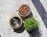 КІТ-ПЕС by smartwood Миска на подставке | Миска-кормушка металлическая для собак щенков  XS - 1 миска, фото 7
