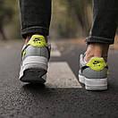 Кроссовки мужские Nike Air Force 1 World, серые, фото 3