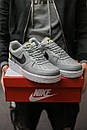 Кроссовки мужские Nike Air Force 1 World, серые, фото 2