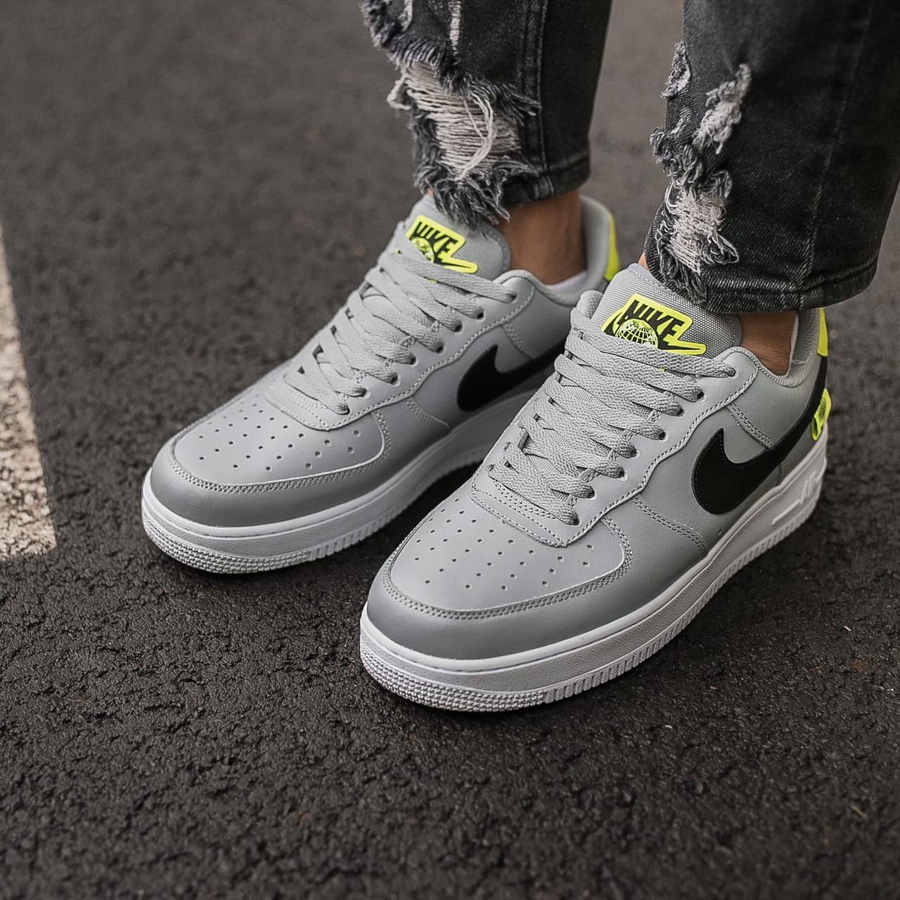 Кроссовки мужские Nike Air Force 1 World, серые