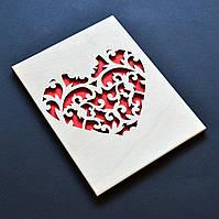 """Деревянная открытка """"Сердце"""". Оригинальный подарок любимому(-ой), маме, родственнику или близкому человеку"""