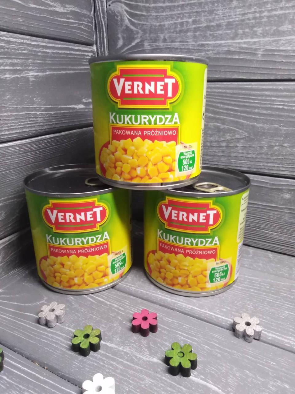 Кукурудза консервована Vernet 340 г
