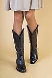 Зимние черные кожаные сапоги, фото 3