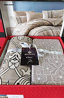 Комплект постельного белья фланель Santa Kahve Belizza Евро размер