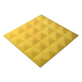 Акустический поролон Ecosound пирамида Pyramid Gain Yellow 45х45см, 30 мм.