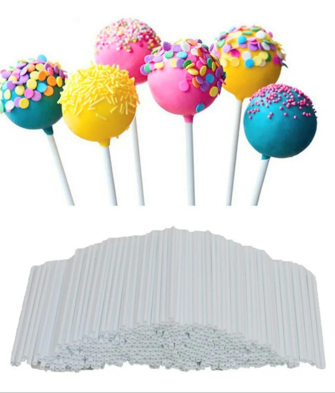 Палички для кейк-попсов 15 см пластик 50 шт.