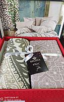 Комплект постельного белья фланель Edivence Bej Belizza Евро размер