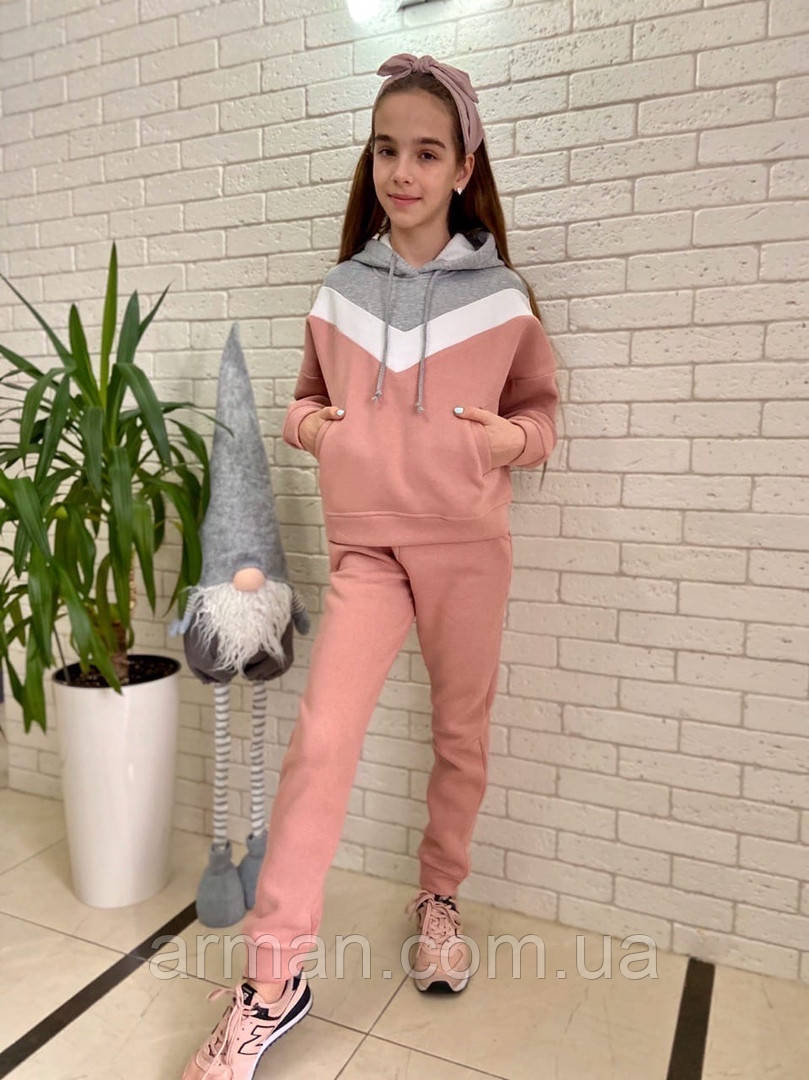 Детский тёпленький спортивный костюм для девочки . Р.134-158. Новый.