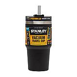 Термочашка з соломинкою Stanley Adventure Quencher 0.6 л Чорна, фото 2