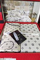 Комплект постельного белья фланель Otis Bej Belizza Евро размер