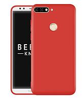 Чехол Silicone Case full для Huawei Y6 Prime 2018 Red