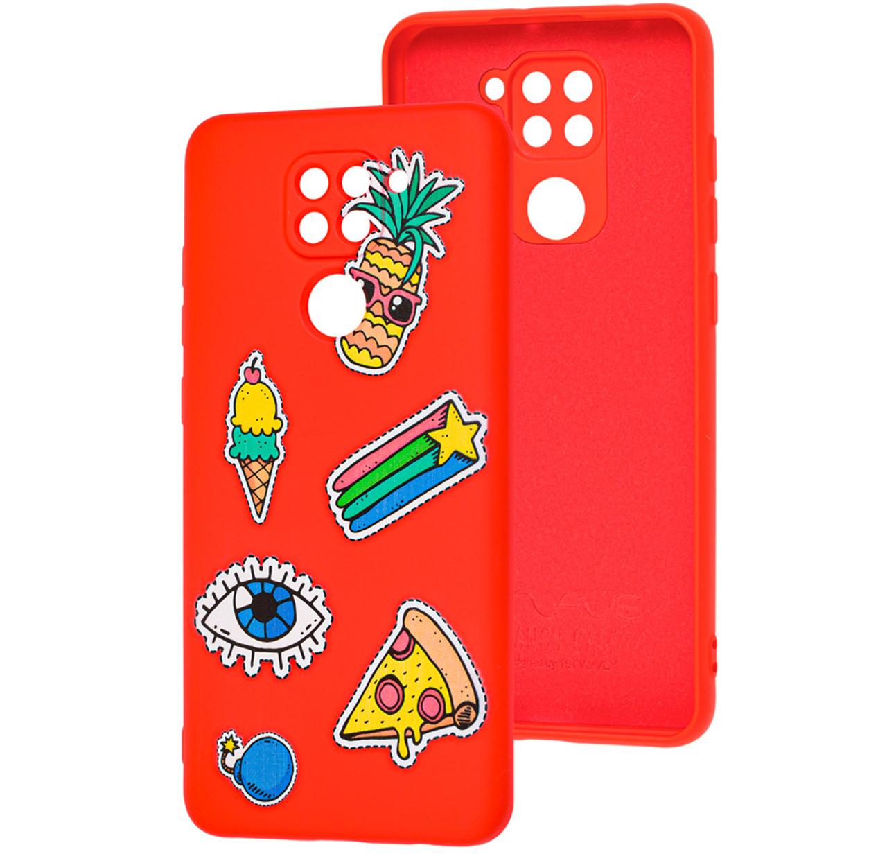 Чехол-накладка TPU WAVE Fancy Case для Xiaomi Redmi Note 9 / Redmi 10X Red (Color Style)