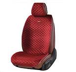 Накидки на сидіння авто Elegant Palermo EL 700 101 передні та задні з алькантари червоні, фото 2