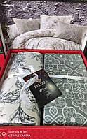 Комплект постельного белья фланель Estelita Bej Belizza Евро размер