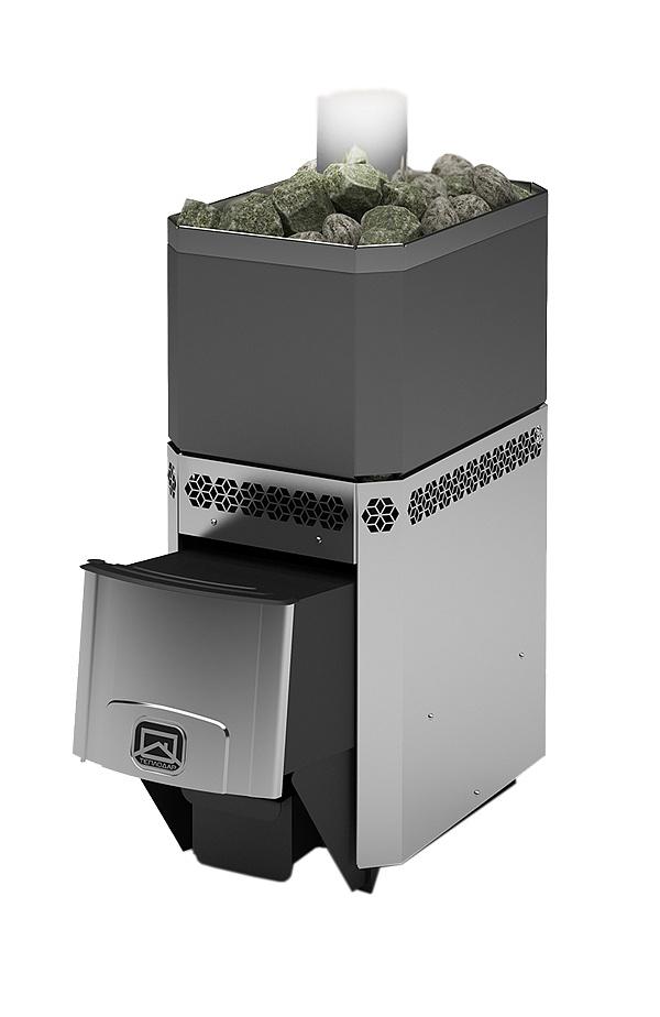 Дровяная печь-каменка Теплодар Русь 18 ЛНЗП профи с ГЛП, нагрев воды, генератор легкого пара