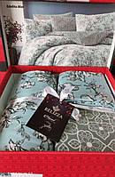 Комплект постельного белья фланель Estelita Mint Belizza Евро размер