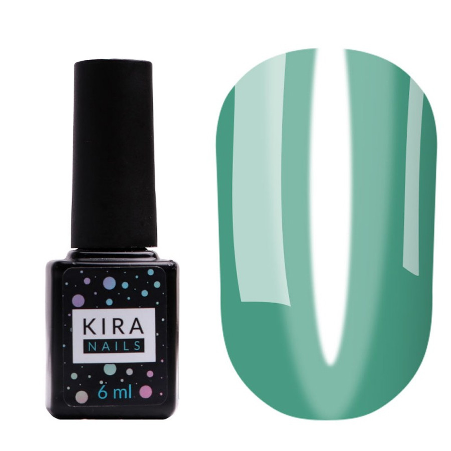 Гель-лак Kira Nails Vitrage V21 (морская волна) 6мл