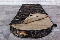 Туристический спальник, спальный мешок летний (-2/+14) для похода и рыбалки