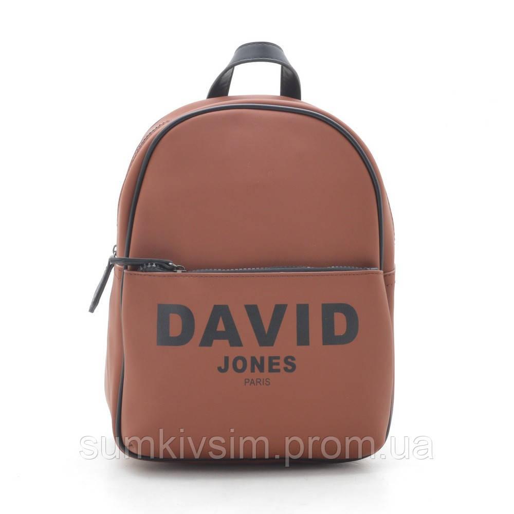 Рюкзак женский коричневого цвета  DAVID JONES 6156-4