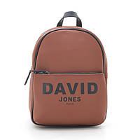 Рюкзак женский коричневого цвета  DAVID JONES 6156-4, фото 1