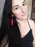 Сережки кисті червоні 8см, фото 3