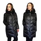 Зимова Жіноча Куртка Пуховик з хутром на кишенях Visdeer 🇨🇳Фабричний Китай Розмір 48/50, фото 7
