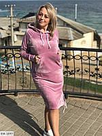Спортивное платье с капюшоном 48-50