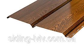 Софіт металевий для підшивки даху золотий дуб глянець