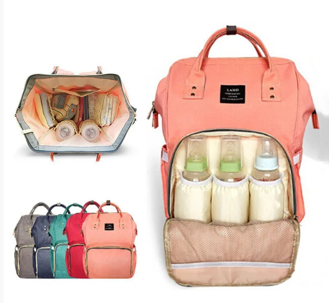 ОПТ Сумка-рюкзак для мам lequeen Mom Bag вмещающий 25 предметов для  ребёнка