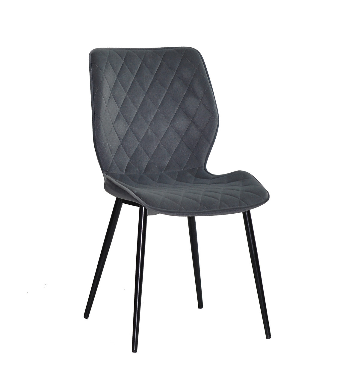 Обеденный стул Nolan ML (Нолан) серый бархат на черных ногах металл