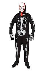 Карнавальный костюм СКЕЛЕТ для взрослых, мужской костюм СКЕЛЕТА (рост 170-185 см)