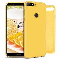 Чехол Silicone Case full для Huawei Y6 Prime 2018 Yellow