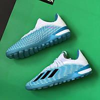 Футбольные сороконожки Adidas X 19.3 TF blue