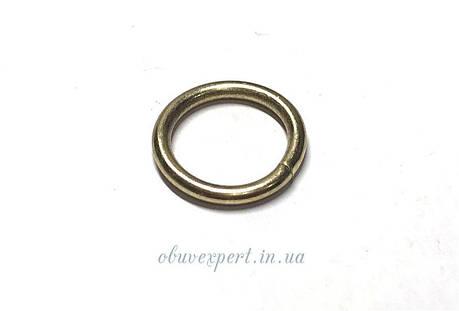 Кольцо проволочное 13 мм, толщ. 2 мм Золото, фото 2