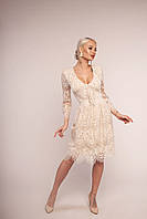 Нарядное платье бежевое итальянского бренда KIANA MASSI XS; S; M; L; XL; XXL