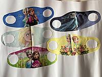 Детская многоразовая маска для лица с супер героями из мультфильмов для девочки