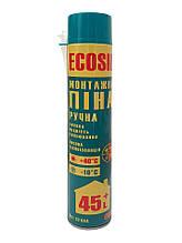 Пена монтажная ручная ECOSIL 600 гр, 750 мл, 45+