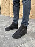 Мужские ботинки кожаные зимние черные-матовые, фото 8