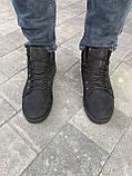 Мужские ботинки кожаные зимние черные-матовые, фото 9