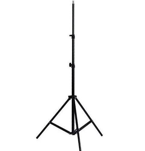 Штатив, стойка для кольцевой лампы, студийного света, фотозонта, софтбокса MHZ, 2 м, черная