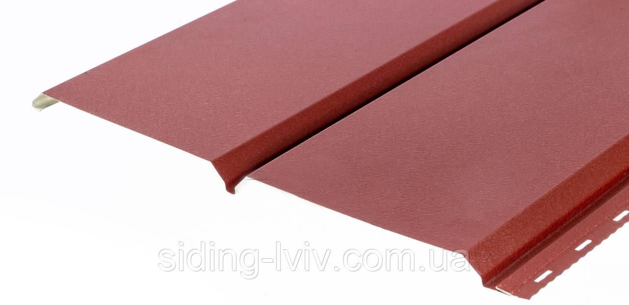 Металевий софіт для підшивки даху червоний (RAL 3005 перферована / гладка)