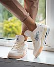 Кроссовки женские реплика Nike Off-White x Air Jordan 4 р.37 Персиковый (hub_579vec), фото 2