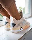 Кроссовки женские реплика Nike Off-White x Air Jordan 4 р.37 Персиковый (hub_579vec), фото 3