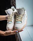 Кроссовки женские реплика Nike Off-White x Air Jordan 4 р.37 Персиковый (hub_579vec), фото 5