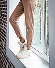 Кроссовки женские реплика Nike Off-White x Air Jordan 4 р.37 Персиковый (hub_579vec), фото 6