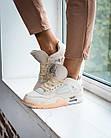 Кроссовки женские реплика Nike Off-White x Air Jordan 4 р.38 Персиковый (hub_tyaney), фото 4