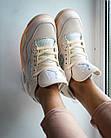 Кроссовки женские реплика Nike Off-White x Air Jordan 4 р.38 Персиковый (hub_tyaney), фото 7