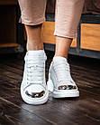Кроссовки женские реплика Alexander McQueen р.37 White Metal  Matt (hub_8fov8q), фото 3
